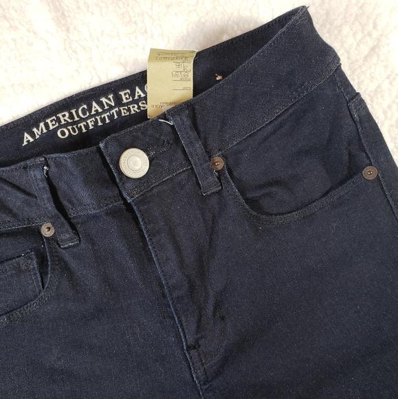 AEO Super Skinny Midrise Dark Wash Jeans sz 2short